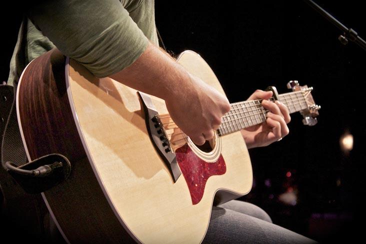 Acoustic-closeup